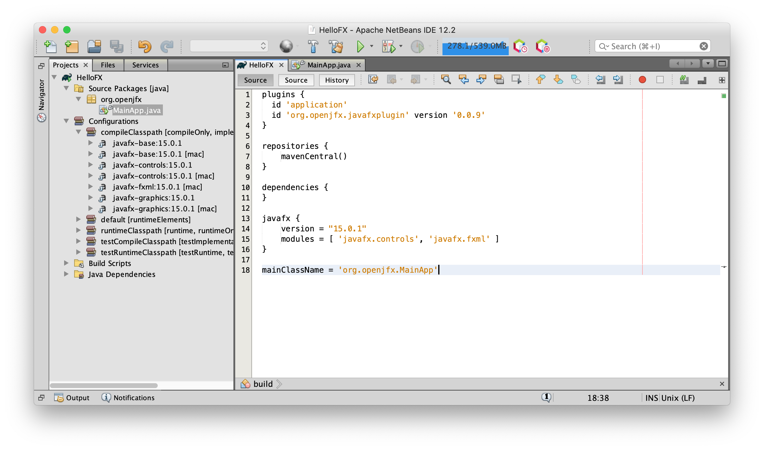 Getting Started with JavaFX 12